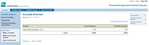 American Express Savings >> American Express Personal Savings Account My New Choice